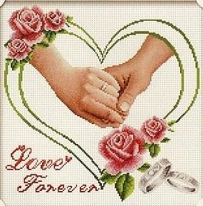autre grille gratuite coeur pour mariage!